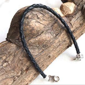 NWOT Chamilia Leather Woven Bracelet in Ebony - OS